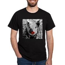 Lovely Piglet, Black,white,splash T-Shirt