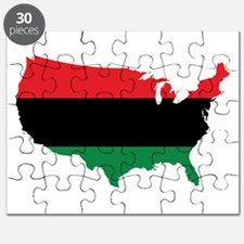 African American _ Red, Black & Green Colors Puzzl