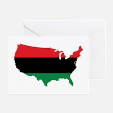 African American _ Red, Black & Green Colors Greet