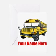 School Bus Greeting Cards