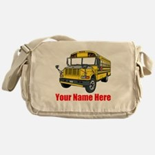 School Bus Messenger Bag