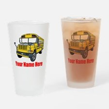 School Bus Drinking Glass