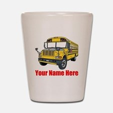 School Bus Shot Glass
