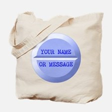 Personalized Pill Blue Tote Bag