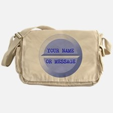 Personalized Pill Blue Messenger Bag