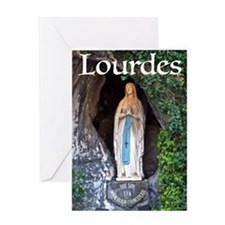 Virgin Mary Lourdes 1 Greeting Cards