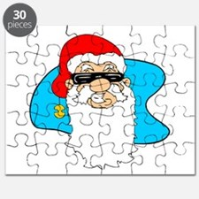 Cool Christmas Santa Claus In Shades Puzzle