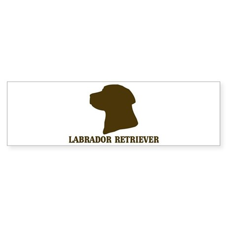 Labrador Retriever (brown) Bumper Sticker