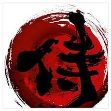 Samurai Kanji Poster