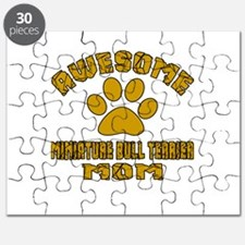 Awesome Miniature Bull Terrier Mom Dog Desi Puzzle