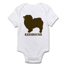 Keeshound (brown) Infant Bodysuit