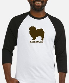 Keeshound (brown) Baseball Jersey