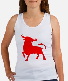 Cute Spain bull Women's Tank Top