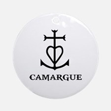 Cute Camargue Round Ornament