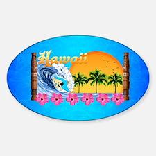 Hawaiian Surfing Decal