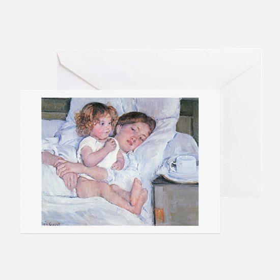 Breakfast in Bed by Cassatt Greeting Card