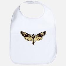 skull butterfly Bib