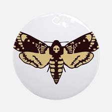 skull butterfly Round Ornament