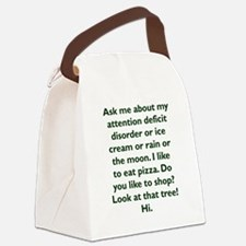 Cute Attention deficit disorder Canvas Lunch Bag