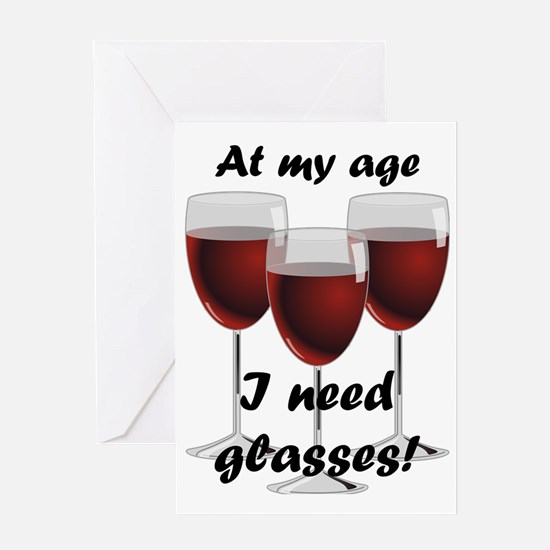 Cute Wine birthday Greeting Card