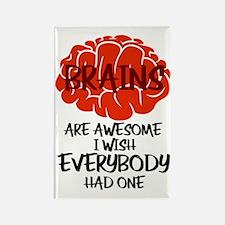 Cute Brains Rectangle Magnet