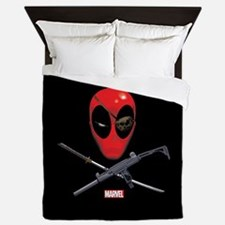 Deadpool Jolly Roger Queen Duvet