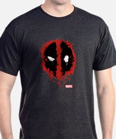 Deadpool Splatter Mask T-Shirt