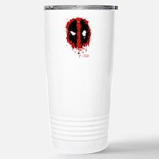 Deadpool Splatter Mask Stainless Steel Travel Mug