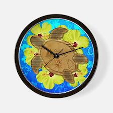 Hawaiian Turtle Nautical Map Wall Clock