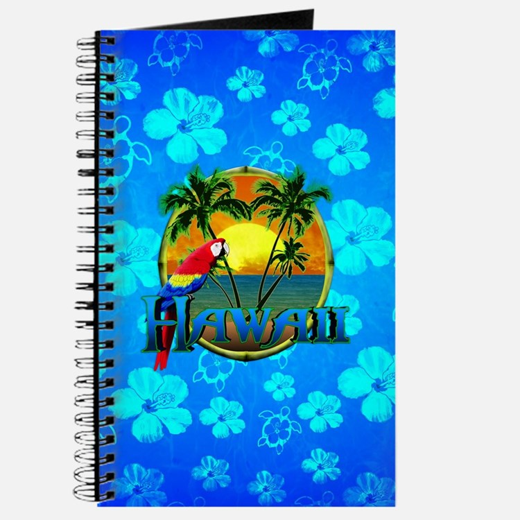 Hawaii Sunset Blue Turtles Journal