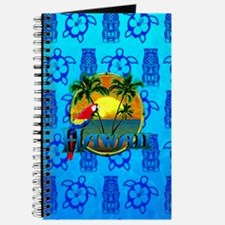Hawaii Sunset Blue Tiki Journal