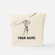 Bodybuilder Flexing Tote Bag
