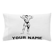 Bodybuilder Flexing Pillow Case