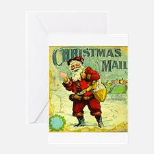 SANTA CHRISTMAS MAIL Greeting Cards
