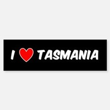 I LOVE TASMANIA Bumper Bumper Bumper Sticker