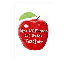 Personalised Teacher Apple Painting Postcards (Pac