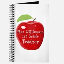 Personalised Teacher Apple Painting Journal