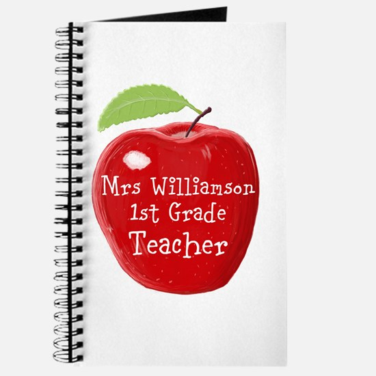 Personalised Teacher Apple Painting Journal