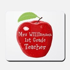 Personalised Teacher Apple Painting Mousepad