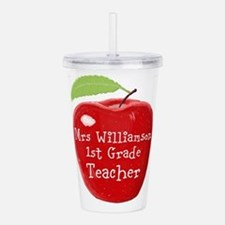 Personalised Teacher Apple Painting Acrylic Double