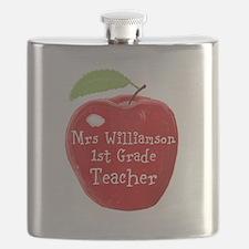 Personalised Teacher Apple Painting Flask