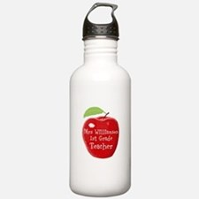 Personalised Teacher Apple Painting Sports Water B
