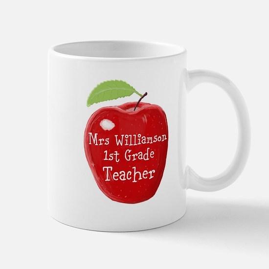 Personalised Teacher Apple Painting Mugs