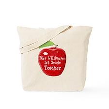 Personalised Teacher Apple Painting Tote Bag