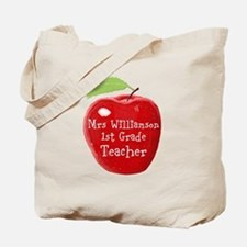Personalised Teacher Apple Painting Tote Bag