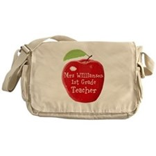 Personalised Teacher Apple Painting Messenger Bag