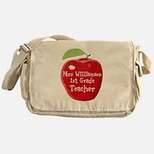 Personalised Teacher Apple Painting Messenger Bag