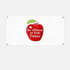 Personalised Teacher Apple Painting Banner