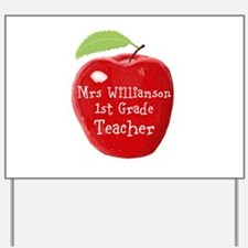 Personalised Teacher Apple Painting Yard Sign