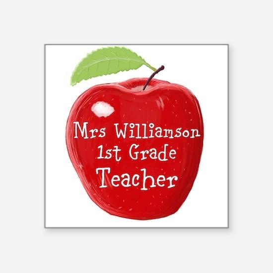 Personalised Teacher Apple Painting Sticker